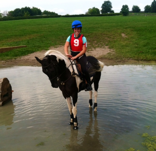 Fame schools cross-country at the Kentucky Horse Park in 2014. Photo by Ashley Mueller.