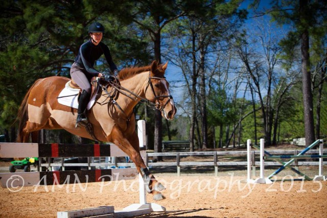 Lila Gendal and Vinnie schooling in Southern Pines. Photo by Ahsley Neuhof/AMN Photography.