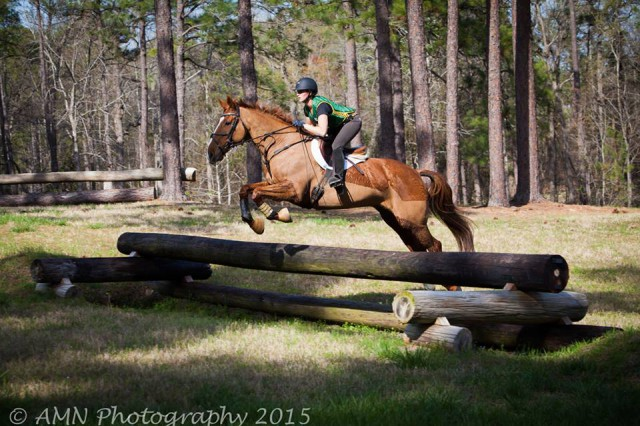 Lila and Vinnie cross counry schooling in Southern Pines 2015. Photo by Ashley Neuhof/AMN Photography.