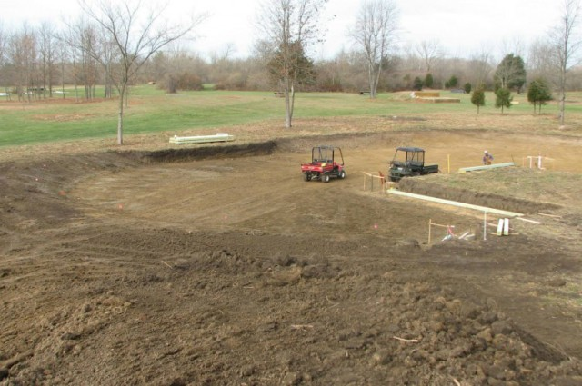Dirt work at the new water box. Photo via IEA website.