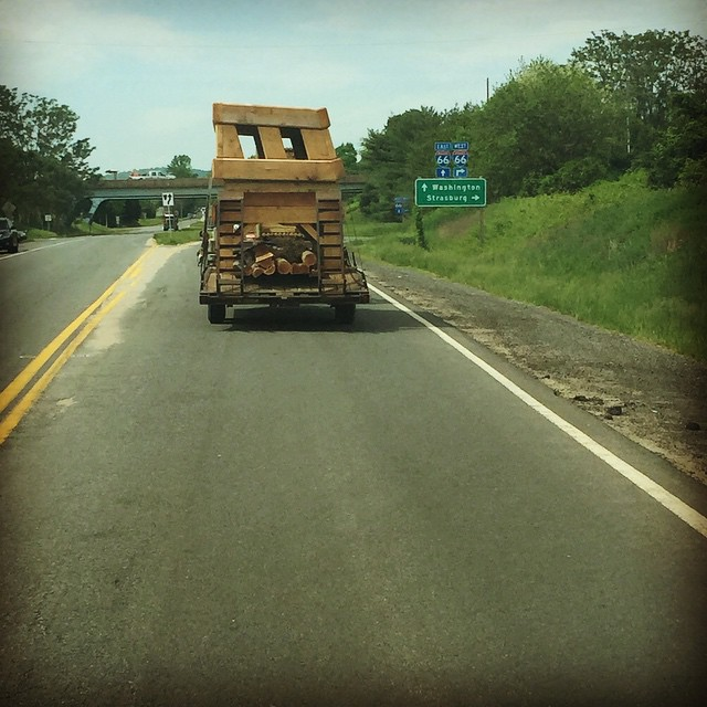 It's not everyday you get stuck behind cross country tables in traffic. Is this a Great Meadows preview? Wait until June 20 to find out! Photo courtesy of Kristin Carpenter.