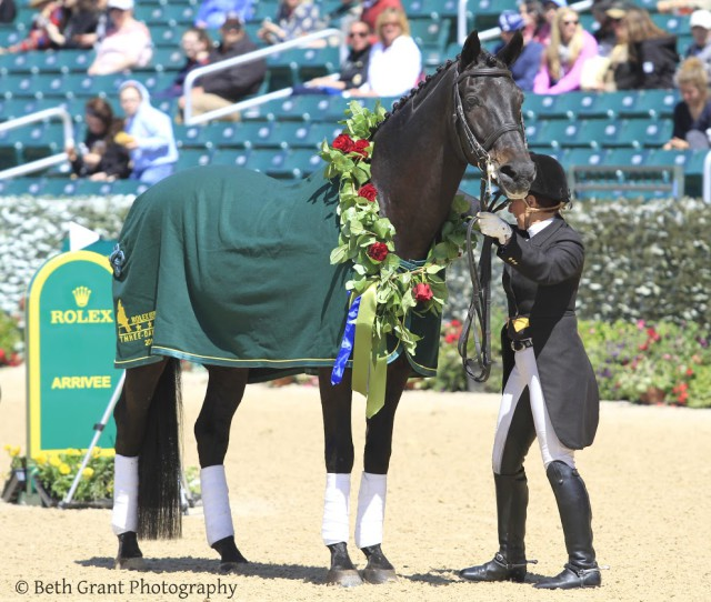 Windfall stands in the Rolex arena once again. Photo courtesy of Beth Grant.