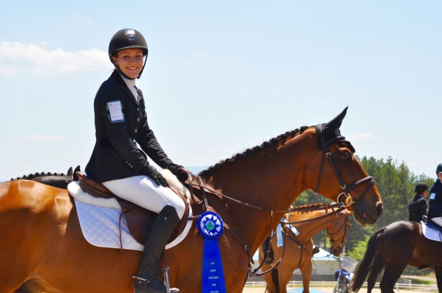 Morgan & Twizzel placed third overall in the CCI*, and won the award for the highest place young rider. Photo by Kate Samuels.