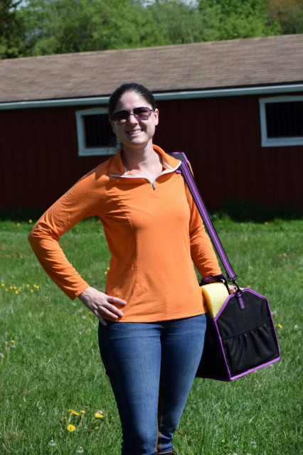 The Performance Quarter Zip Pullover is comfortable, and not too loose or too constricting -- and, it features princess seams for a feminine and flattering fit - Photo by Lorraine Peachey