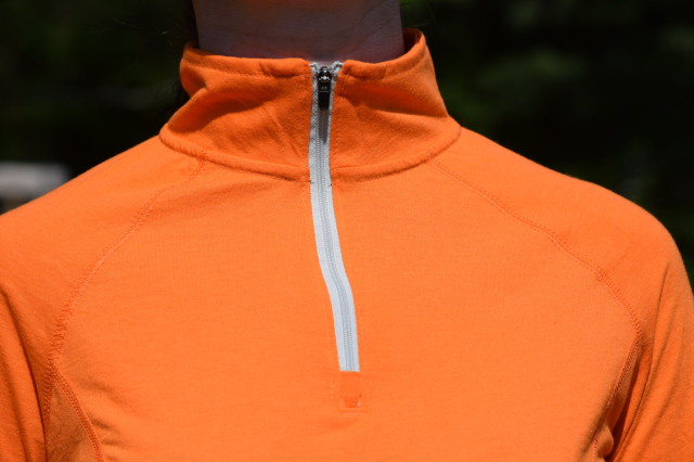 True to name, the Quarter Zip Pullover has a quarter zip front, which also features a mock neck collar - Photo by Lorraine Peachey