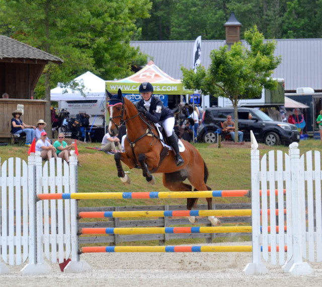 Avery Klunick and In It to Win It. Photo courtesy of Rather Be Riding Photography.
