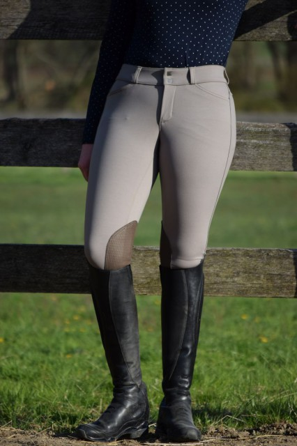 The compression fabric feels really great when I pull the breeches on - instead of feeling like it is constricting, I feel like they hug my legs and curves like a second skin - Photo by Lorraine Peachey