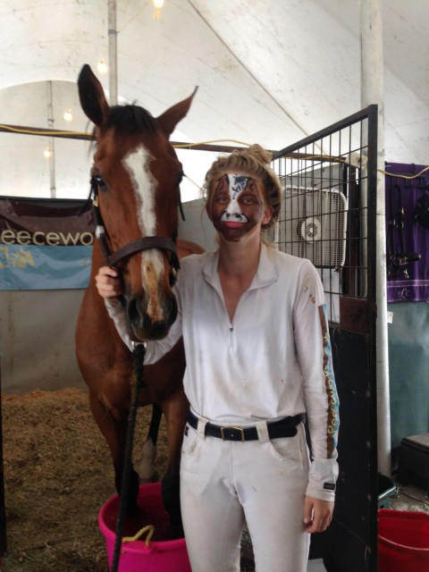Avery Klunick had her face painted to match her horse. Love? Photo by Libby Head.