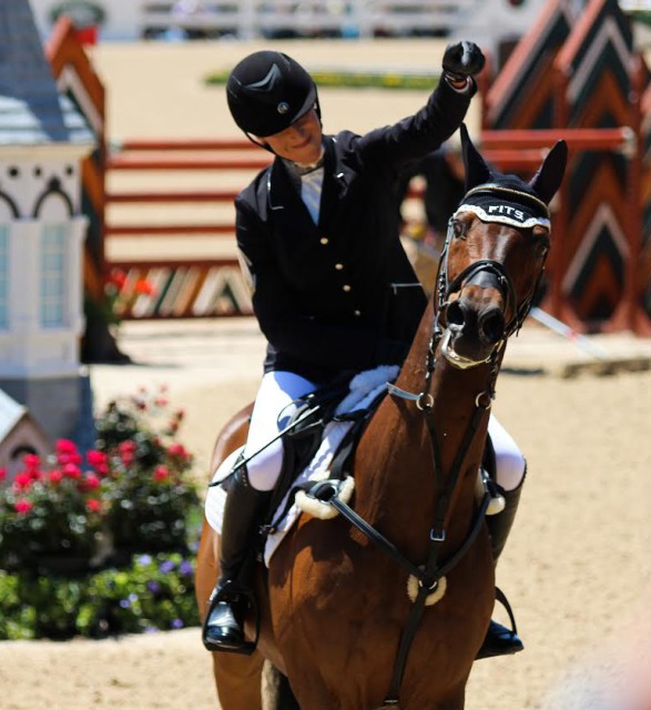 Lainey Ashker and Anthony Patch after completing Rolex. Photo courtesy of Hannah Cardew.