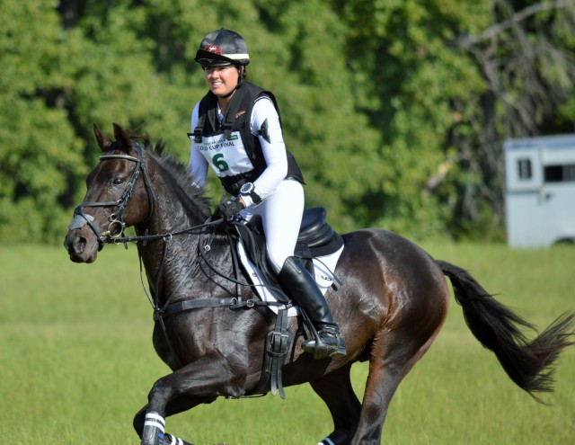 Libby Head and Sir Rockstar at AECs. Photo by Sally Spickard.