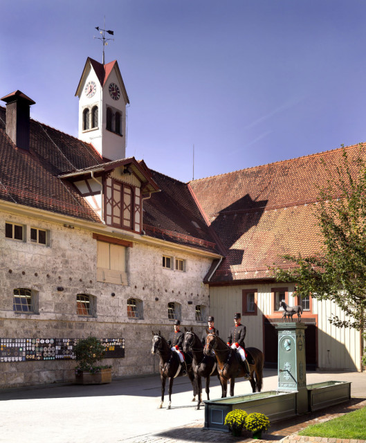 The main barn at Marbach. Photo copyright. Marbach - Hube.