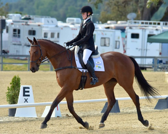 USEA Groom of the Year Sarah Braun and Crowning Event in the Preliminary Horse Challenge. Photo courtesy of Sherry Stewart.