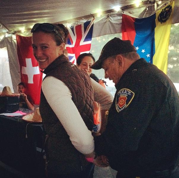 """That time Lauren Kieffer went to """"jail."""" Photo via EN's Instagram."""