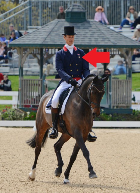 William Fox-Pitt sporting his Pony Club at Rolex. Photo by Jenni Autry.