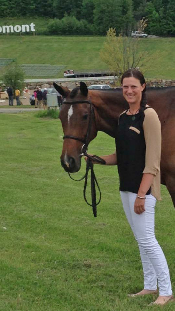 Lauren and Scarlett at Bromont in 2014, where they won the CCI2*.