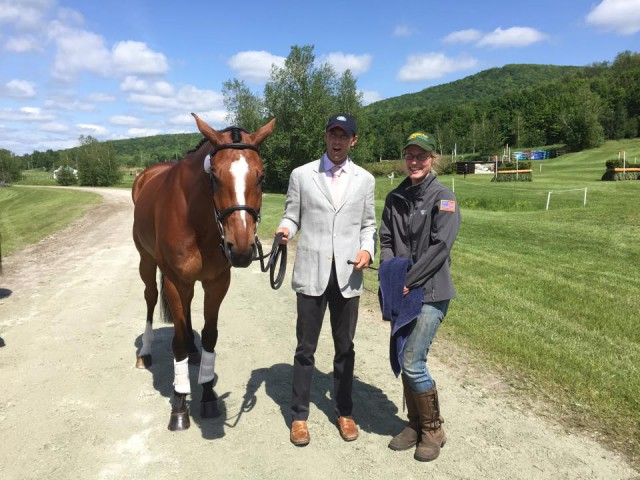 The Four Star Eventing Group's Butch Cassidy sits in 2nd place in the CCI* with Will Coleman at Bromont. Photo via Will Coleman Eventing.