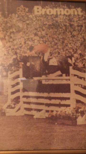 Oswaldo Mendez at the 1976 Olympics in Bromont. Photo courtesy of Oswaldo Mendez.
