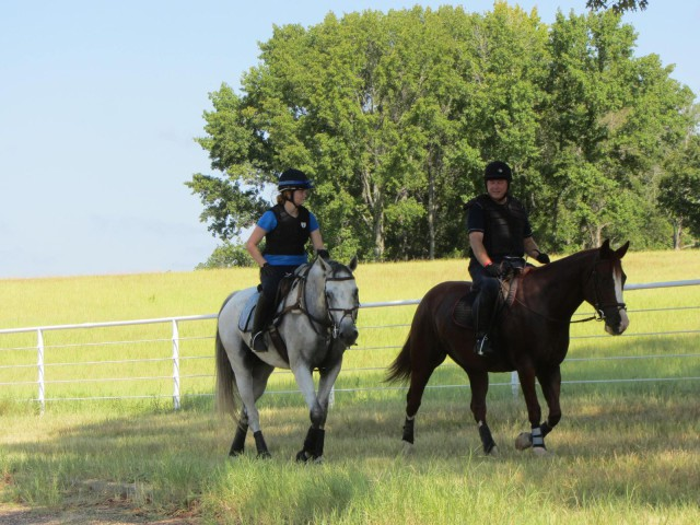 Bailey Moran and Eventing Dad schooling Texas Rose Horse Park.