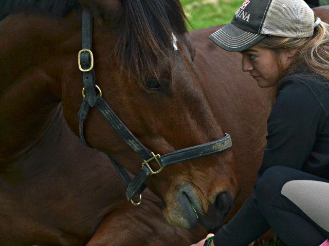 Chelsea and Dante share a moment. Photo courtesy of JJ Sillman.