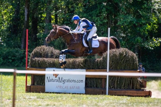 Jordan Linstedt and Revitavet Capato, CIC2* winners at Aspen Farms Horse Trials. Photo by Jo Arlow Photography.