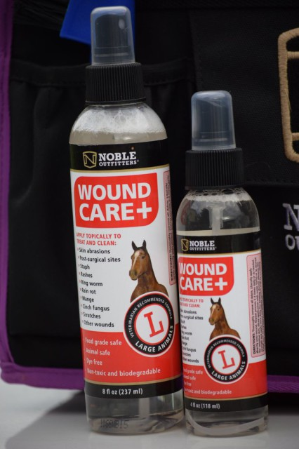 Wound Care+ is meant to be applied topically in order to treat and clean wounds and other issues of the skin. Photo by Lorraine Peachey.