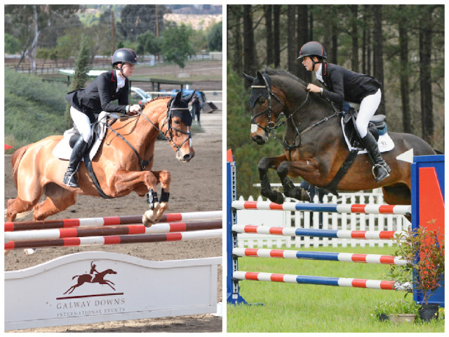 Lauren Kieffer and Spring Easy (left) and Effervescent (right). Photos by Jenni Autry.