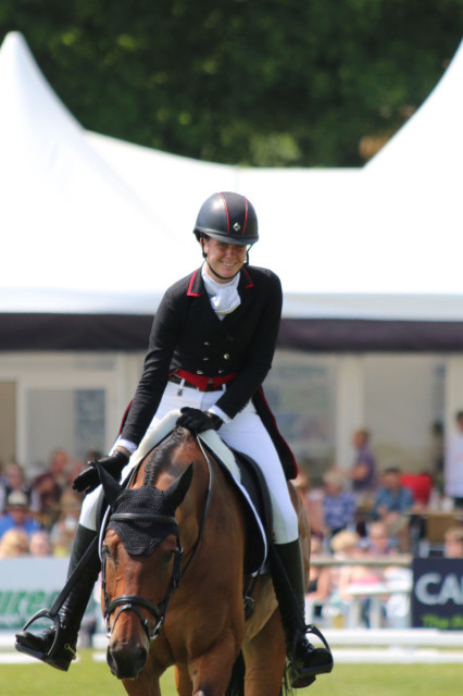 Caroline Martin completes the first phase on Quantum Solace at Bramham.