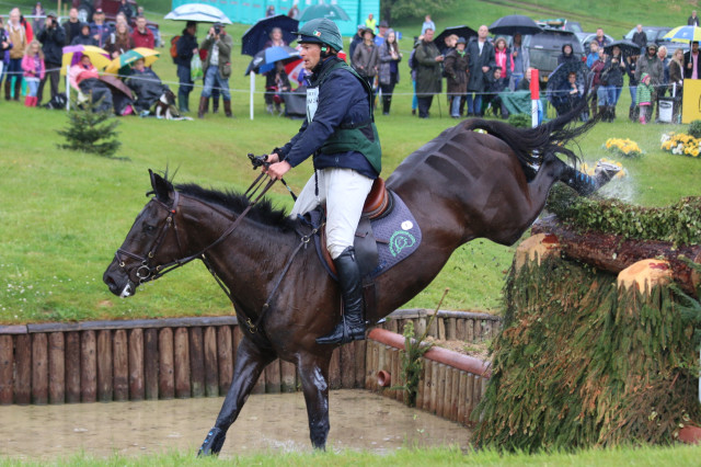 Trailblazers Mark Kyle and Jesmond Justice jump clear round the Bramham CCI3* xc  Photo by Samantha Clark