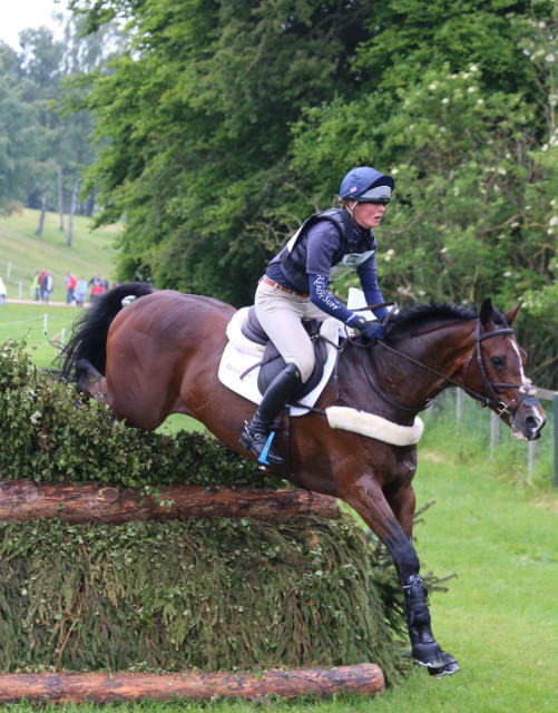 Overnight leaders at Equitrek Bramham CCI3* Flora Harris and Bayano. Photo by Samantha Clark