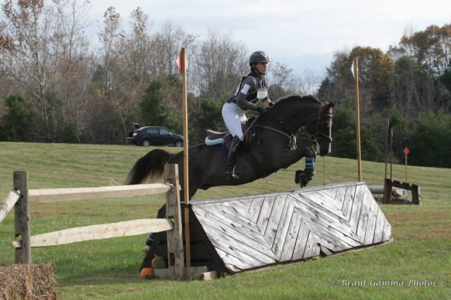Lauren and Jazz tackle cross-country. Photo by Brant Gamma Photography.
