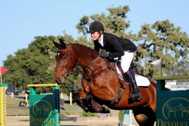 Madelyn Holtzman and Footlight's Ollie at Woodside. Photograph courtsey Madelyn Holtzman.