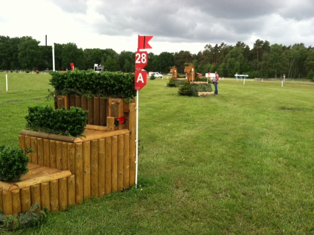 Fence 28 of Capt. Mark Phillips' cross country course. Photo by Leslie Wylie.