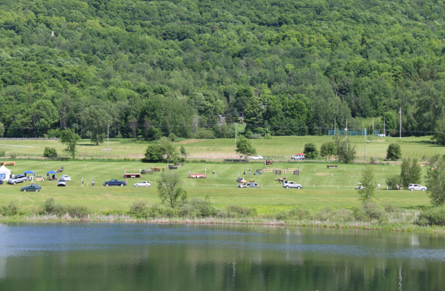 The front of the Bromont cross-country course. Photo by Leslie Wylie.