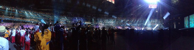 A panoramic view from the Pan American Games opening ceremony. Photo by Lauren Billys.