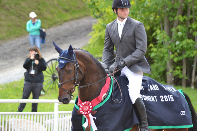Beau Guimond and Filibuster ST after their win in the 2015 Bromont CCI1*. Photo by Leslie Wylie.