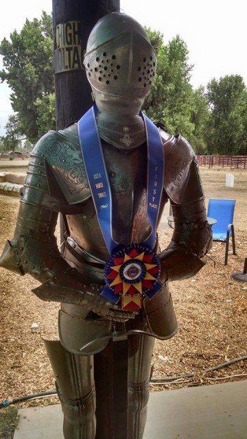 Meet the bouncer at the bar at Camelot! He also guards the coveted first place neck ribbon . . . Photo by Louis Blankenship.
