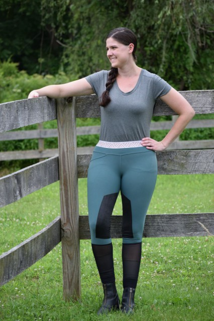 Trying on the Barcelona Breeches, I was excited to find that the fabric stretches and hugs my figure, without feeling too tight or constricting - Photo by Lorraine Peachey