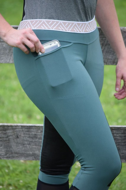 I also was happy to notice the large right hip pocket of the Barcelona Breeches, which easily accommodates my large smartphone in a secure manner - Photo by Lorraine Peachey
