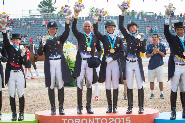 Equestrian fans were disappointed that there was no live stream of Team USA winning dressage gold over the weekend. Photo courtesy of  StockImageServices / FEI.