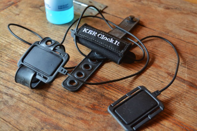 The KER Clockit Sport kit includes the Polar Equine Heart Rate monitor and a bottle of ultrasound gel which is used during application of the electrodes. Photo by Kate Samuels.