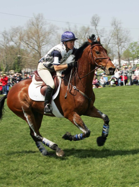 Kristin Bachman and Gryffindor on cross country at Rolex 2007 photo by