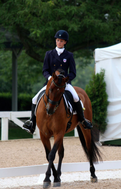 Jamie Dolittle and Talisman were the CCI2* NAJYRC guinea pigs Photo by Samantha Clark
