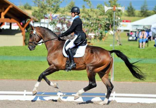 Jordan Linstedt and RevitaVet Capato. Photo by Sally Spickard.