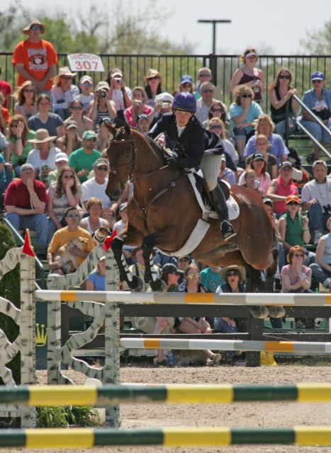 Kristin Bachman riding Gryffindor at Rolex 2007. Photo by Mike McNally.