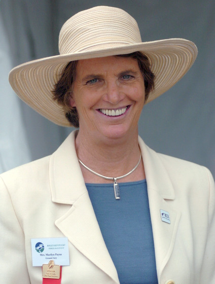 Marilyn Payne is a known and respected eventing and dressage judge. Photo courtesy Michelle Dunn.