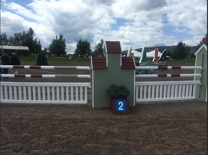 Fence two on the CCI2* course. Photo by Sally Spickard.