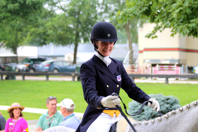 Nicole Dolittle and Tops lead the NAJYRC CCI2* after the dressage phase Photo by Samantha Clark