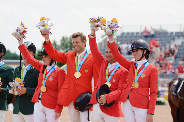 Victorious Team USA: Marilyn Little, Boyd Martin, Phillip Dutton and Lauren Kieffer. Photo by Jenni Autry.