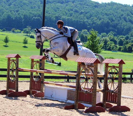 Leslie Law taught a clinic at Morningside Training Center in Virginia this week, and man, check out the hops on this OTTB! This is Argyle, owned by Skyeler Icke Voss, ridden by Connor Husain. Photo courtesy of Skyeler.