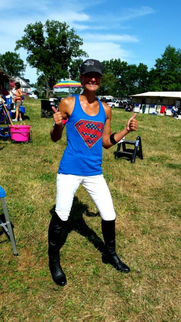 Everybody needs Superman sparkles on XC day!